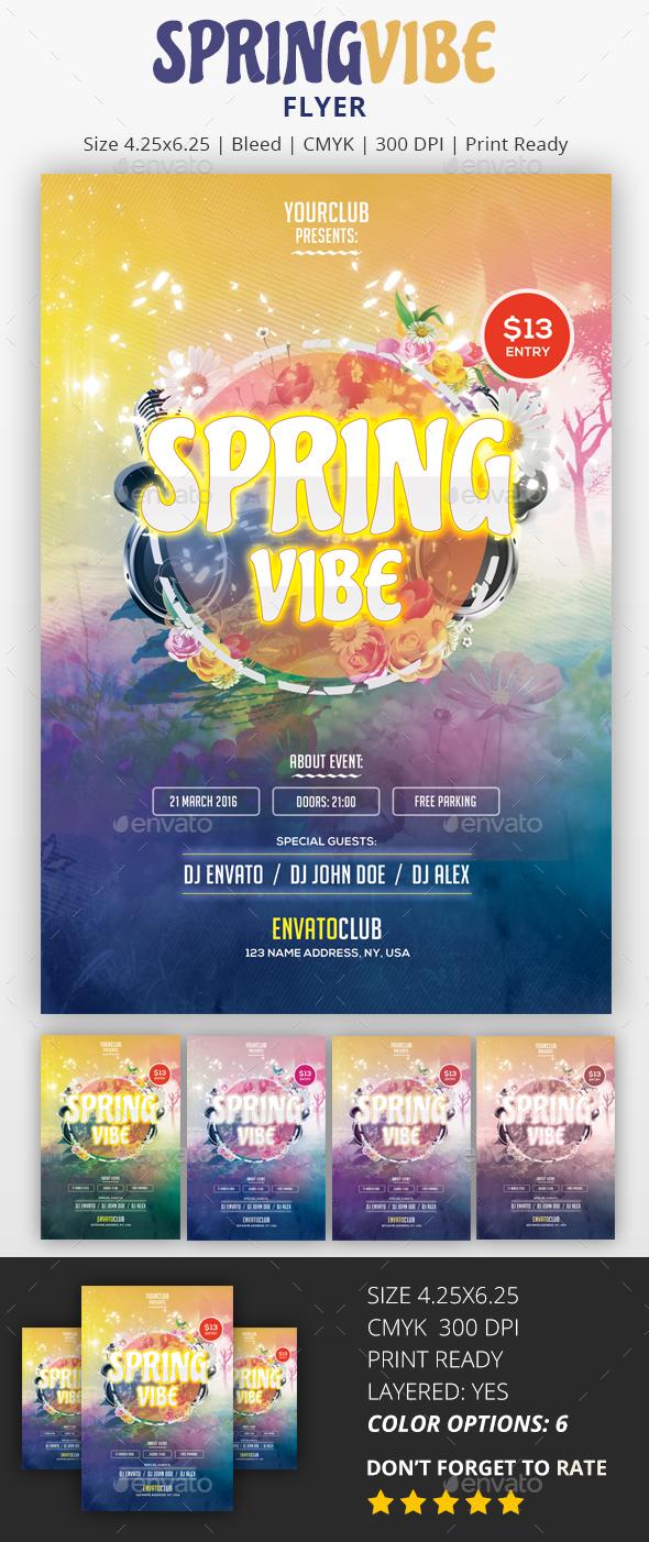 Spring Vibe - PSD Flyer