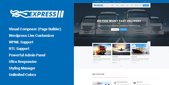 Express - Transports and Logistics WordPress Theme