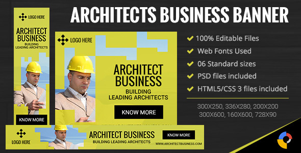 GWD | Architects Business Banner - 6 Sizes