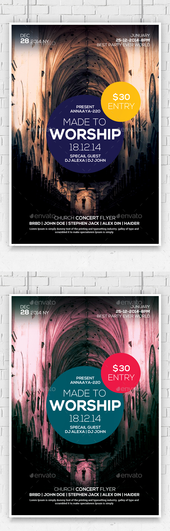 church concert flyer graphics designs templates page 43