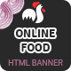 Fast Food | HTML5 Google Banner Ad 03