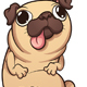Cartoon Pug