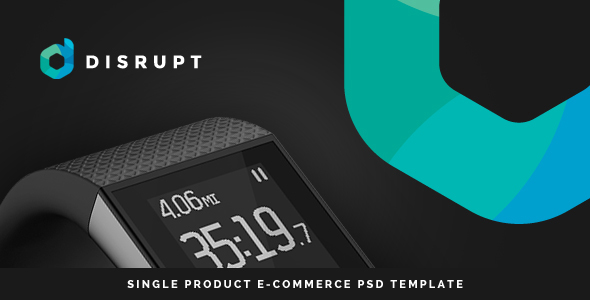 Disrupt – Single Product e-Commerce PSD Template (Technology) images