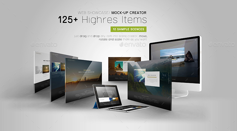 Web Showcase/ Mock-up Creator by Wutip | GraphicRiver