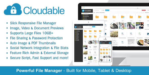 Cloudable - File Hosting Script - Securely Manage, Preview & Share Your File