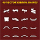 40 Vector Ribbon Shapes - GraphicRiver Item for Sale