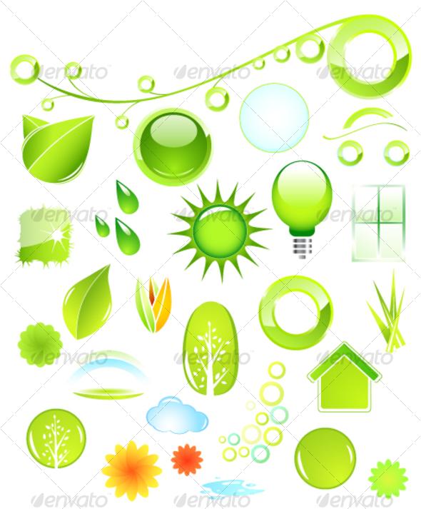 Set of environmental icons - Web Icons