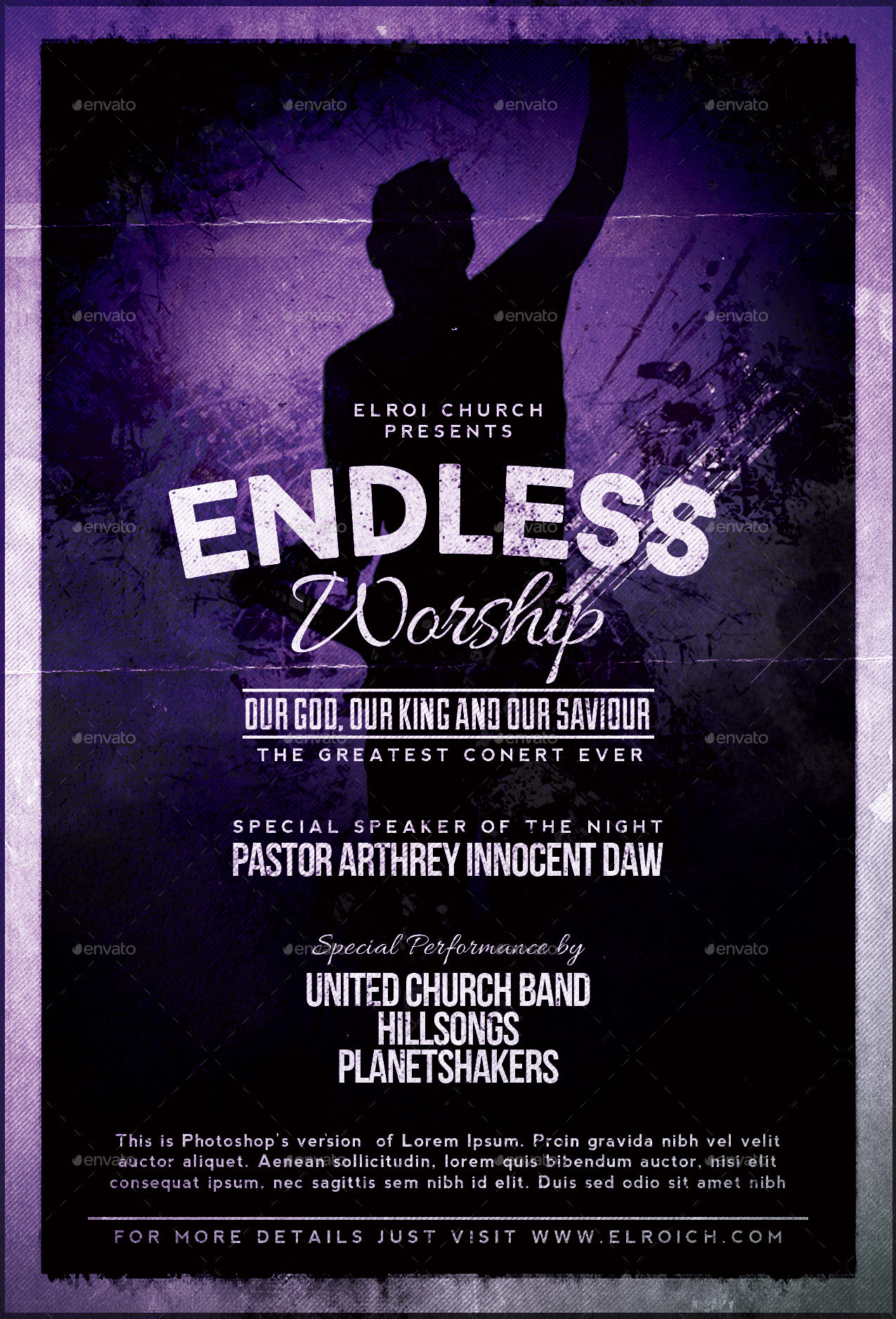 endless worship church flyer by amabledesign graphicriver endless worship church flyer