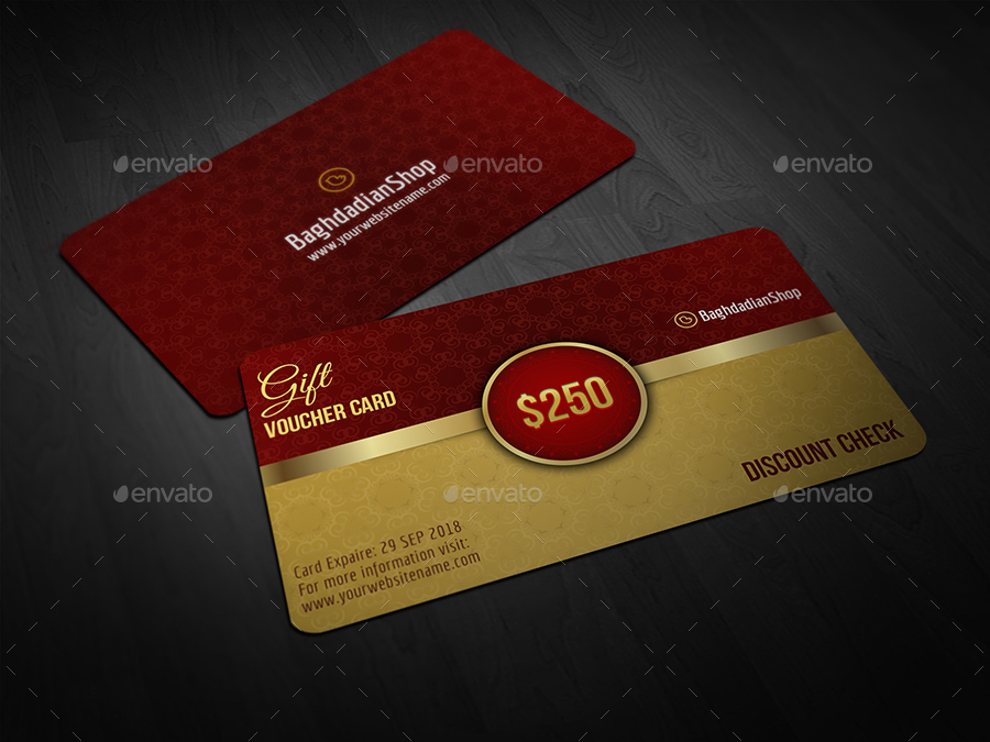 Gift Voucher Card Template Vol 21 by OWPictures – Voucher Card Template