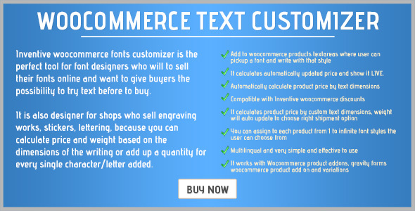 Inventive woocommerce text customizer