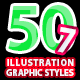 50 Illustrator Graphic Styles Bundle Vol.7