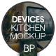 7 psd | Laptop Screen Kitchen Mockup