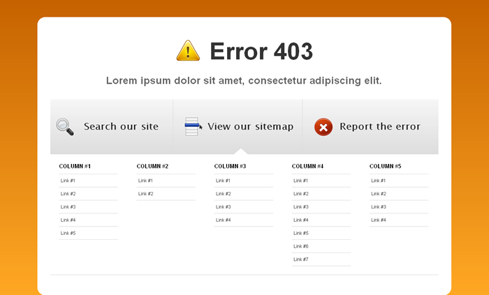 Powerful Errors - PHP/Ajax error template