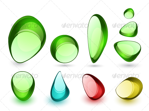 Abstract glass stones - Web Icons
