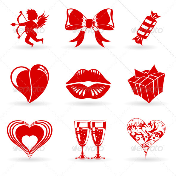 Graphic River Valentines Day Icons Vectors -  Conceptual  Seasons/Holidays  Valentines 1439082