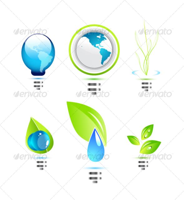 Environmental power icons - Web Icons