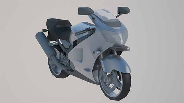 Low Poly Sports Bike - 3DOcean Item for Sale