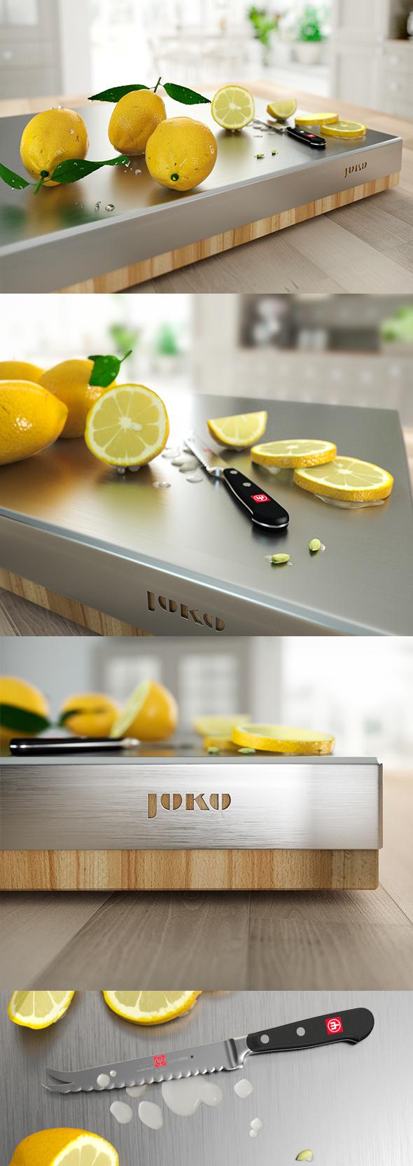Lemons on chopping-board - 3DOcean Item for Sale
