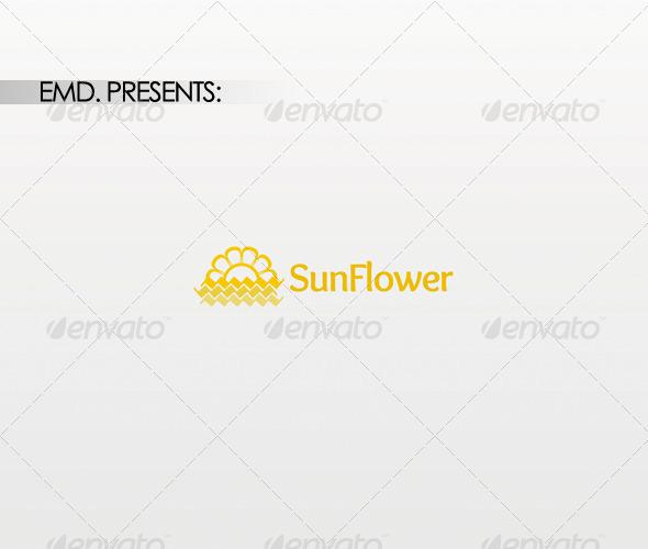 Graphic River Sun Flower Logo Logo Templates -  Symbols 1439127