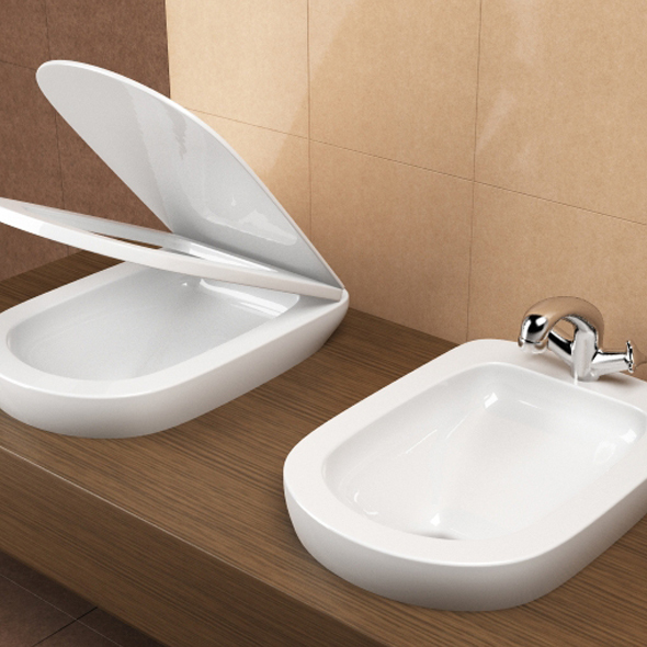 toilet and bidet - 3DOcean Item for Sale
