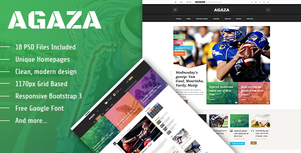 Agaza – News & Magazine PSD Template (Creative) images