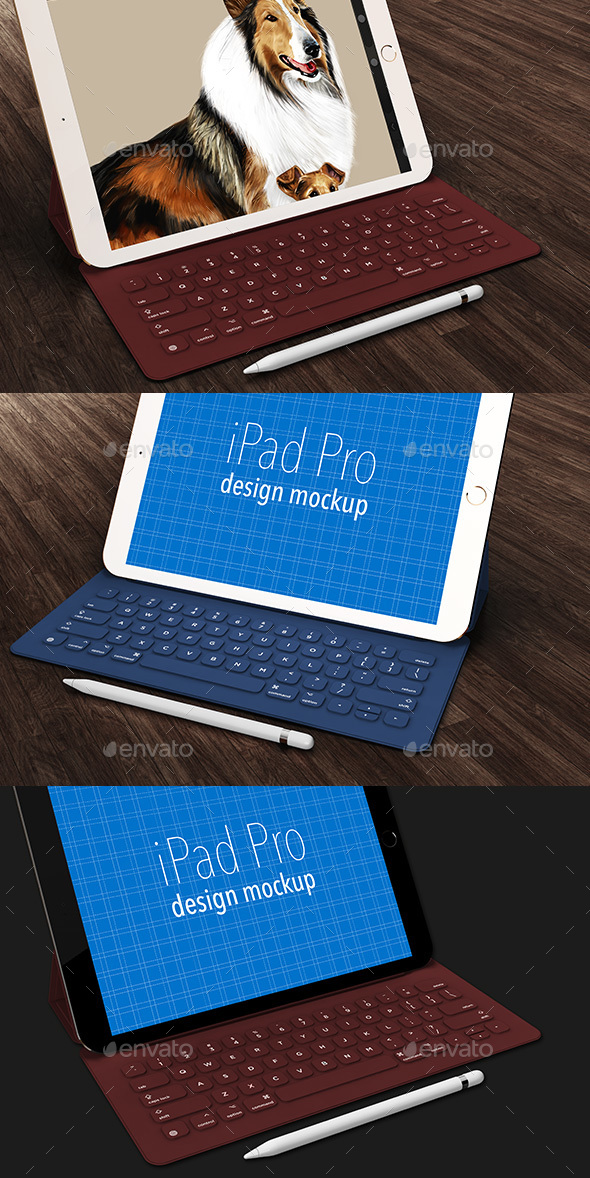 iPad Pro Design Mockup (Displays)