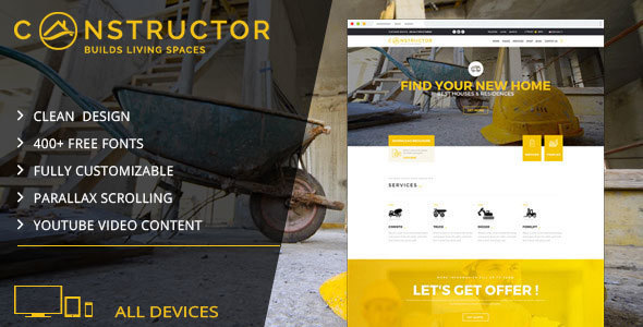 Constructor | Building Company Muse Template