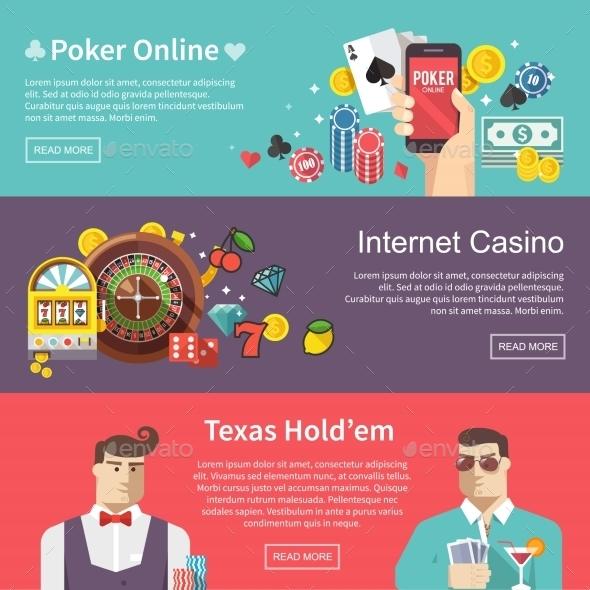 Poker Vector Web Banner