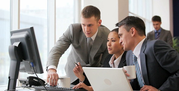 Business people in front of computer VideoHive Stock Footage  Business Corporate 1148750