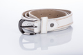 thin white female belt buckle with fine