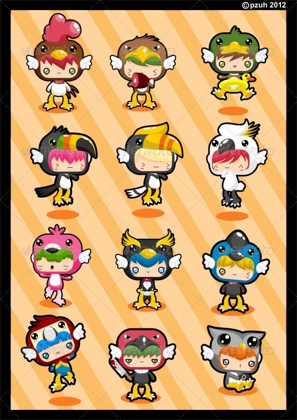 Kawaii Costume Pack Birdie