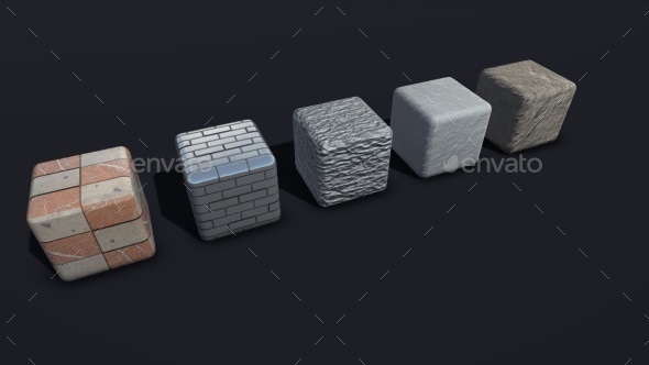 Physically Based Wall and Floor Materials Pack - 3DOcean Item for Sale