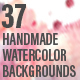 37 Handmade Watercolor Backgrounds