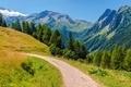 Alpine Trail in Switzerland