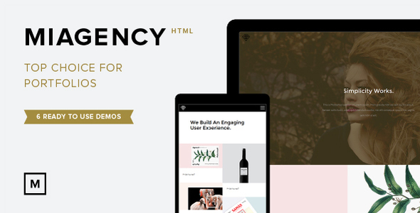 MiAgency- Minimalistic & Flexible Portfolio Theme