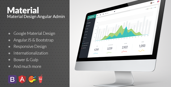 9. Material Design Admin with AngularJS