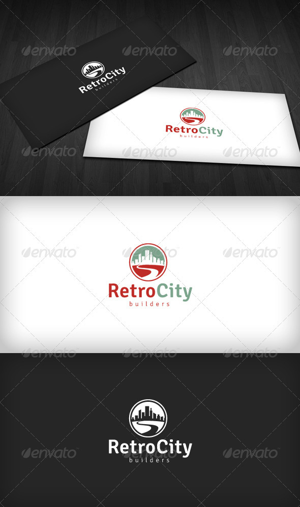 Retro City Logo - Buildings Logo Templates