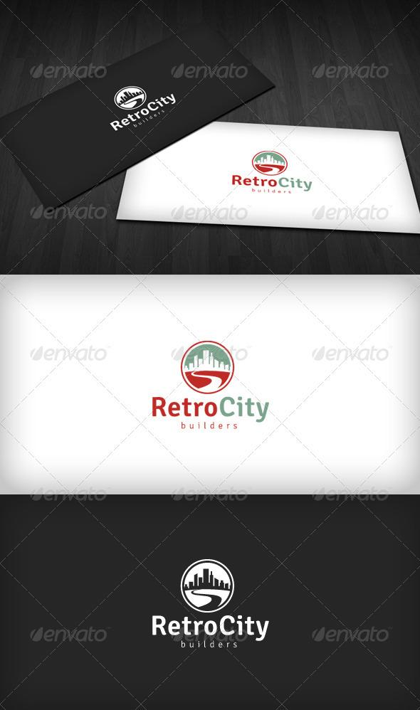 Retro City Logo - Buildings Logo Templates