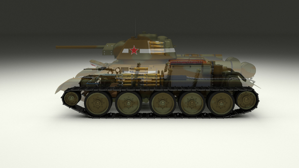 T-34/76 Interior/Engine Bay Camo Full - 3DOcean Item for Sale