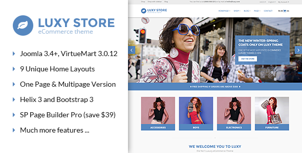 Vina Luxy - Multipurpose VirtueMart Joomla Template