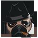 Pug with Cigar