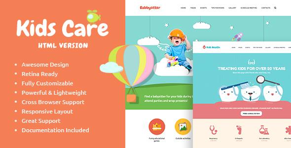 Image of KidsCare - Multi-Purpose Children Site Template