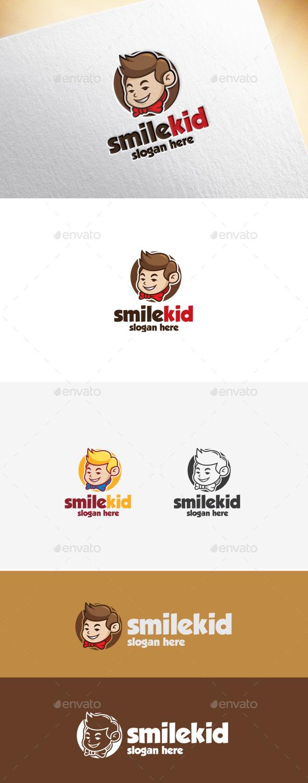 Smile Kid Logo Template