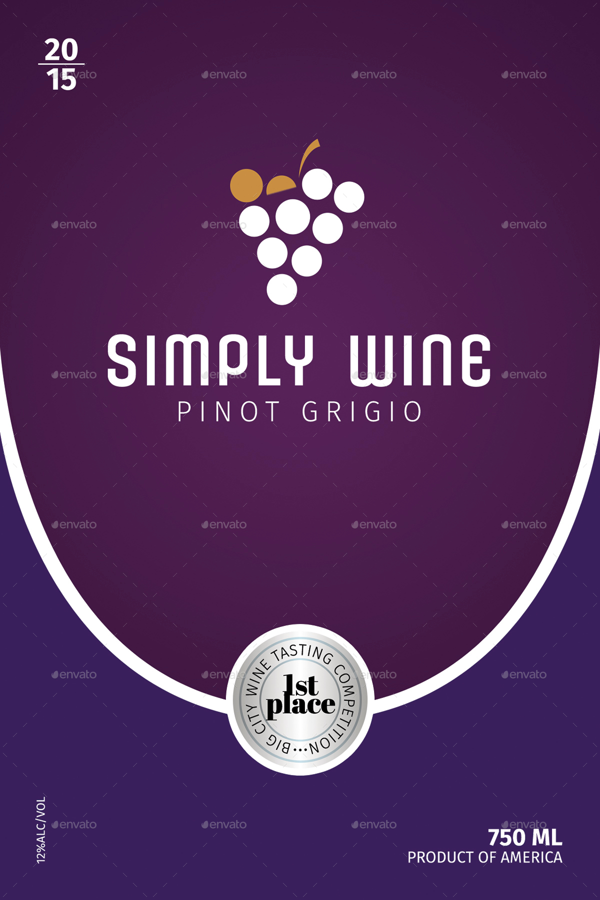Simple Wine Label Templates 1 by CreativB – Wine Label Templates