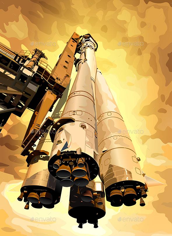 Rocket on Planet