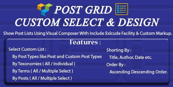 Download Visual Composer - Post - Custom Select & Custom Design nulled download