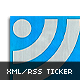 XML RSS News Ticker Horizontal Vertical Resizable - ActiveDen Item for Sale