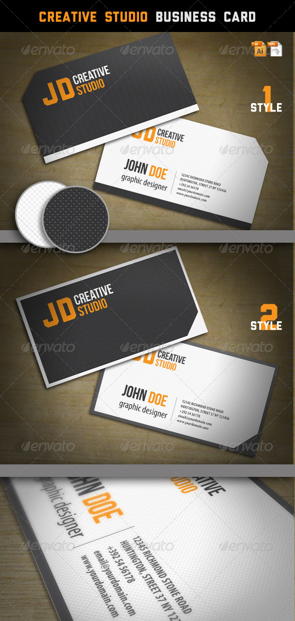 GraphicRiver Creative Studio Business Card 1443565