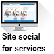 Site social for services