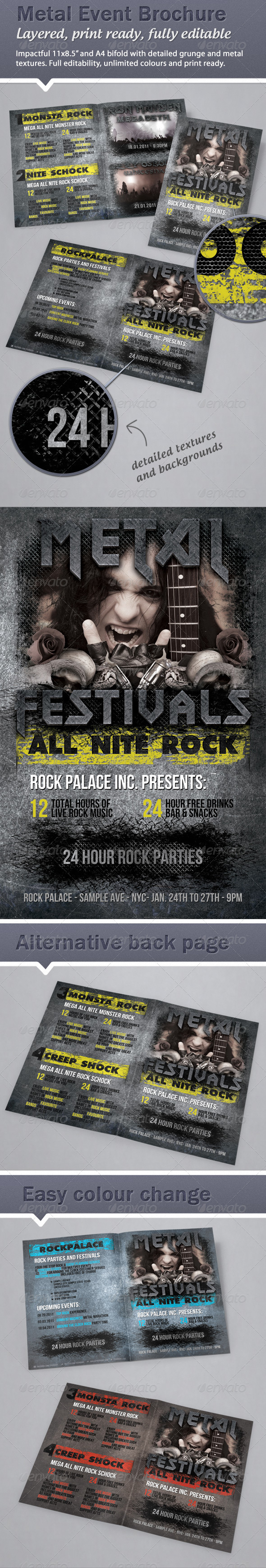Heavy metal rock event Brochure 11x8.5 & A4